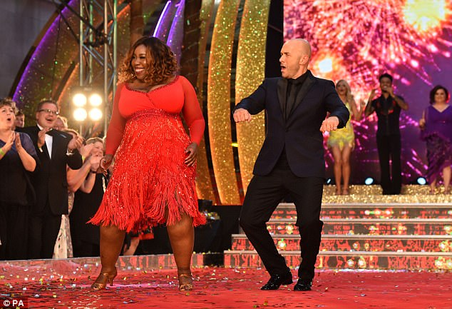Ones to beat? Chizzy Akudolu and Simon Rimmer brought the fire as they put on a lively display