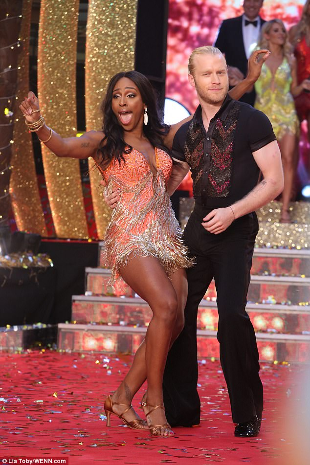 Multi-talented: Alexandra Burke was clearly keen on diverting her attention from singing to dancing, as she hinted at what was to come while stepping out at the launch with Jonnie Peacock