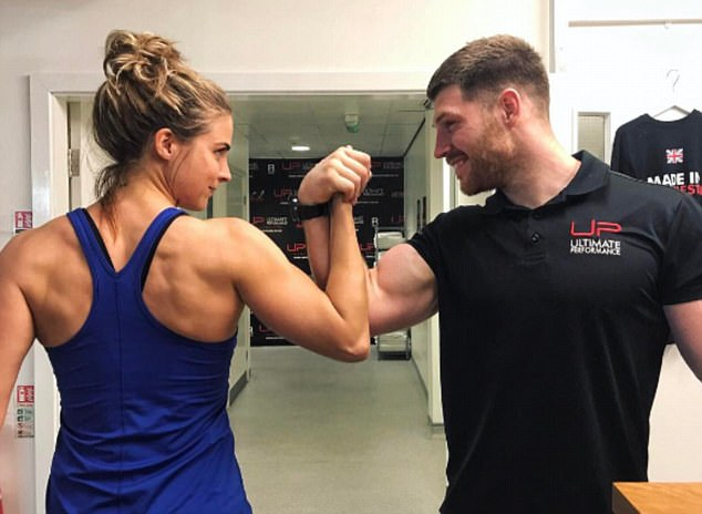 Tough girl:Gemma is a self-confessed tomboy and has recently taken on an intensive fitness challenge, which she has been documenting on her blog and her social media