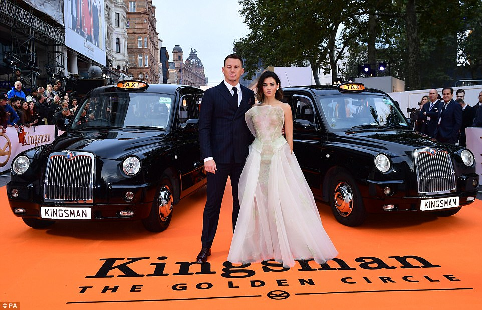 My man:Jenna was the picture of elegance and glamour as she supported her handsome husband Channing Tatum at the star-studded event