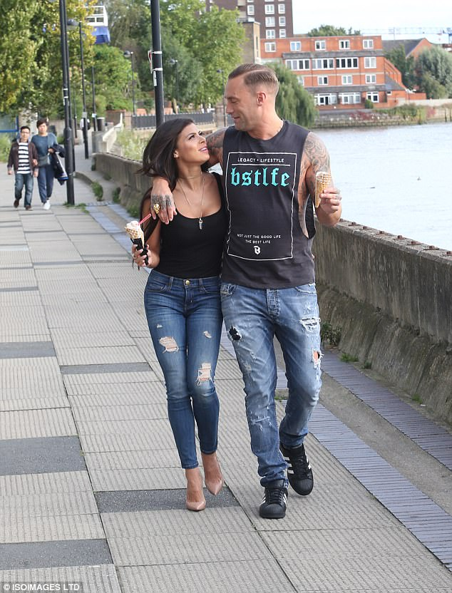 Stepping out: Marissa Jade, 32, and Calum Best, 36, have continued to set the romance rumour mill into overdrive after they were pictured together on Monday in London, enjoying the last of the sunshine and eating ice creams