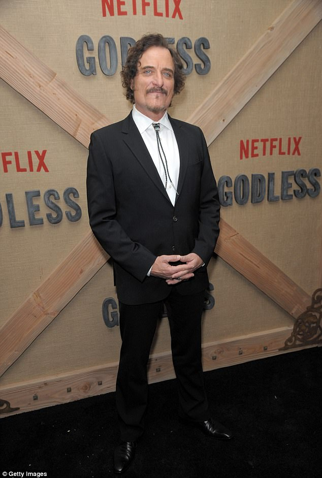 Handsome: Kim Coates - who plays Ed Logan on the show - arrived on the black carpet