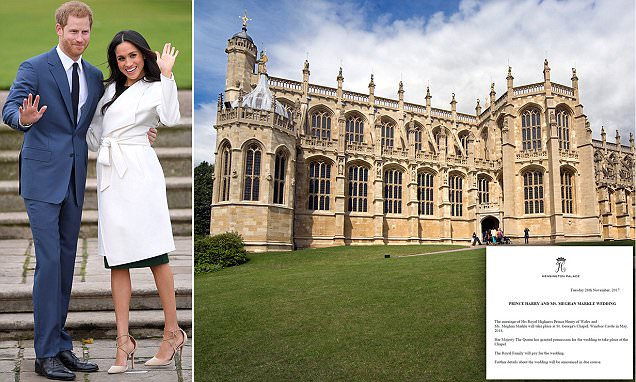 Prince Harry & Meghan Markle will marry in Windsor in May