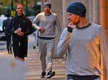 Prince Harry is seen leaving his gym in Chelsea, west London, after a workout with his royal protection officer this afternoon
