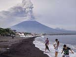 Indonesian authorities have said Bali's Mount Agung volcano (pictured) could erupt again within hours, not days
