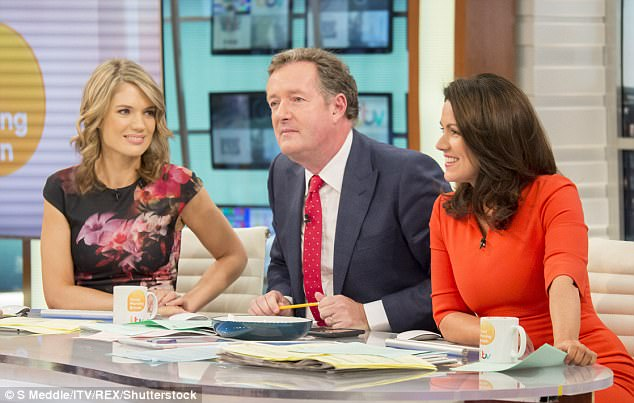 All in jest: 'Susanna and Piers are already teasing me about how short the dresses will get. Thank goodness, with all the dancing, I¿m gonna be the fittest I¿ve ever been!'