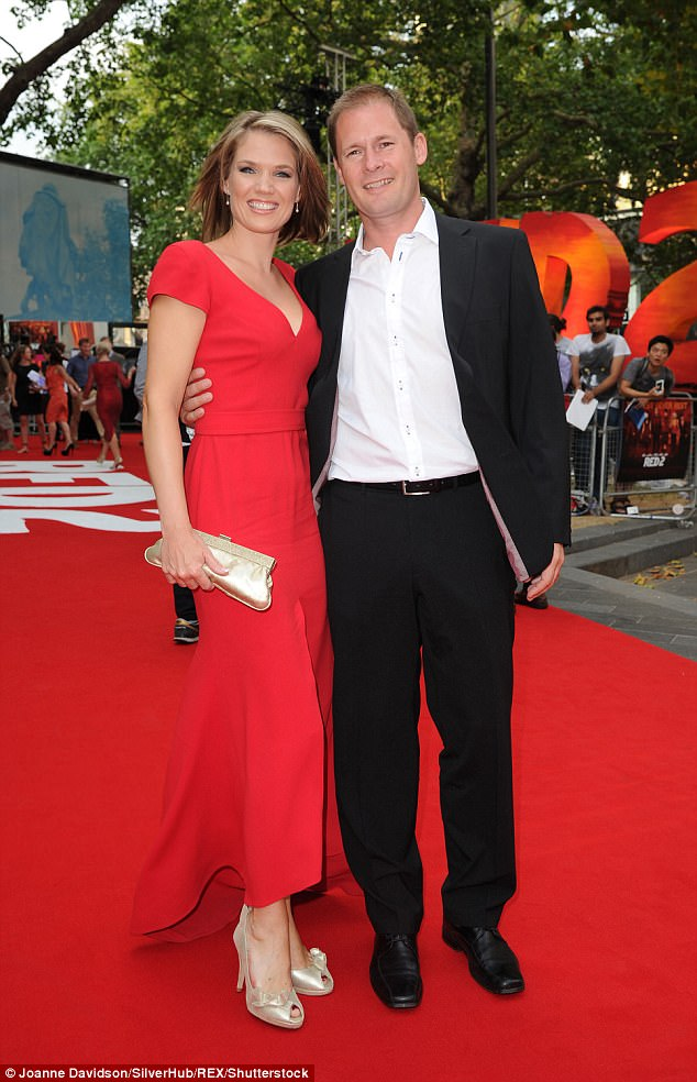 """Strictly happy:She confessed: 'One of the things I get asked about most is the """"curse of Strictly"""", but it's not an issue as we're very happily married' about her husband Mark Herbert"""