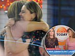 Savannah Guthrie and her co-host for the morning, Hoda Kotb - who normally co-hosts the fourth hour of 'Today' with Kathie Lee Gifford - were seen comforting each other, sharing an on-set hug as they tried to come to terms with the news