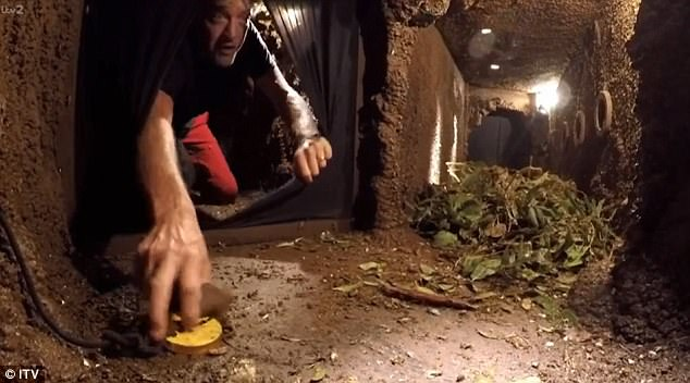Eek: Richard showed nerves of steel throughout the challenge, which took place underground in a giant termites nest
