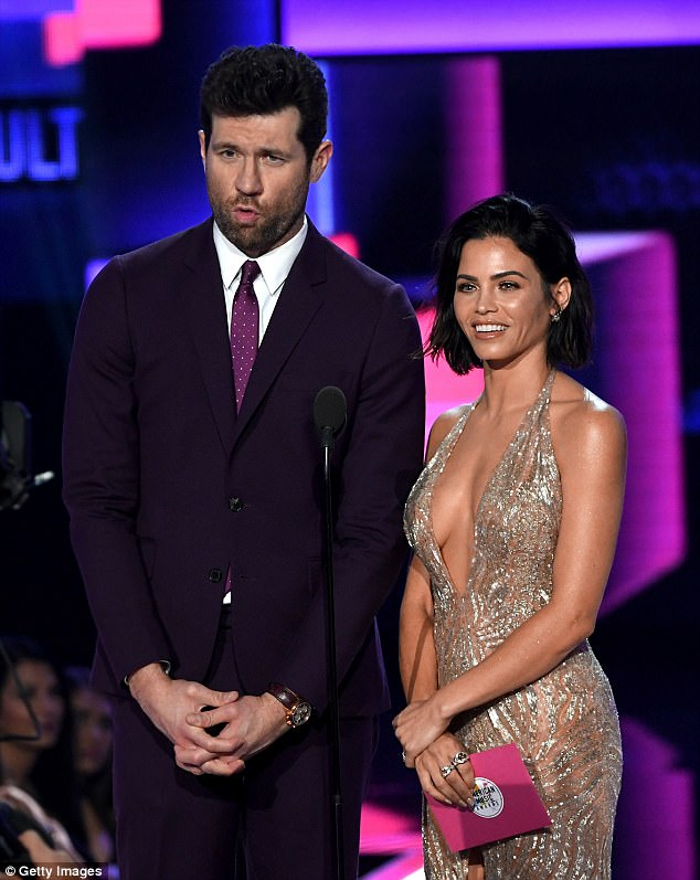 Dynamic duo:It was no wonder she dressed to impress, with the Step Up star presenting an award on stage alongside Billy Eichner
