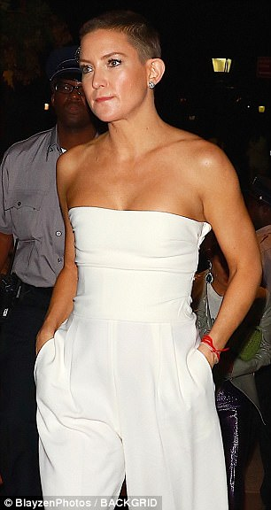 Striking: The actress commanded attention as she made her way to another event in New York City on Saturday evening