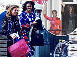 Former U.S. First Lady Michelle Obama and wife of Canada's Prime Minister, Sophie Gregoire Trudeau, thrilled star watchers in Toronto Tuesday afternoon by casually rolling up to a local restaurant for lunch