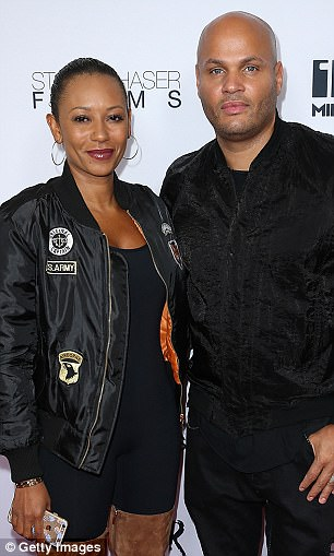 Madatyan appears to be close to the same age as Mel B (pictured with Stephen Belafonte in 2016)