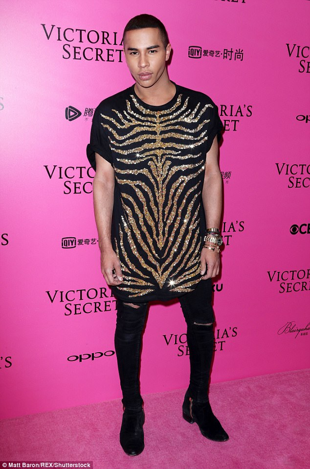 Dazzling appearance: The guests joined arrivals including fashion designer Olivier Rousteing