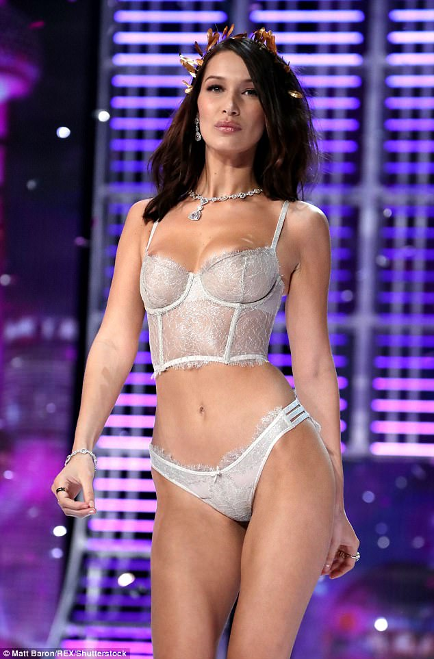 Good genes: The busty brunette was proud to walk in her second VS Show