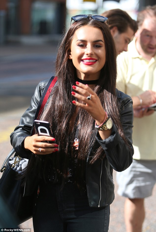 Unfazed: Amber, meanwhile, appeared to brush off the duo's critics as she was seen beaming while leaving the ITV studios on Monday