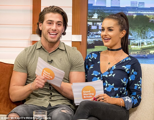Fan reaction: The poor lovebirds were slated on Twitter by viewers, who joked they should 'stick to the day jobs' and branded their appearance 'cringe'