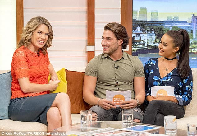In the hot seat: The Love Island duo, who won the £50,000 prize money as well as finding love on the reality show, appeared far less nervous and seemed more natural this time around