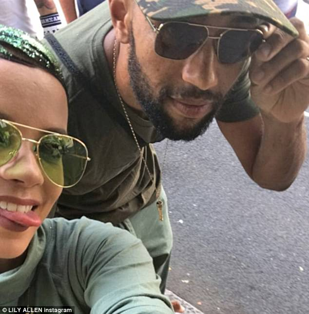 Take two!Lily Allen, 32, looked worlds away from the drama of last year's fiesta at Notting Hill Carnival as she posed with her boyfriend MC Meridian Dan in an Instagram post on Sunday