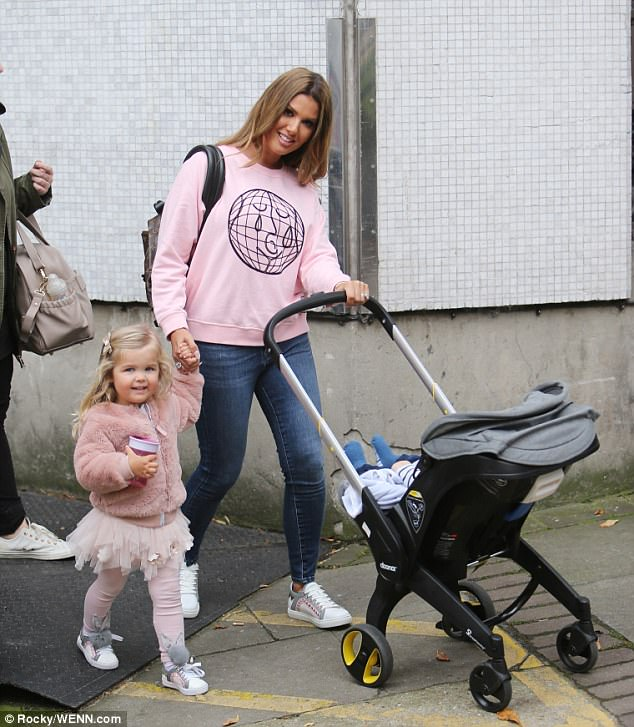 Matching: Becky's daughter Sofia donned a coordinating pink ensemble to match her mum