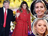 Seasons greetings: President Donald Trump and first lady Melania Trump kicked off the holiday season in the nation's capital in front of a sparse crowd at Thursday's lighting of the National Christmas tree