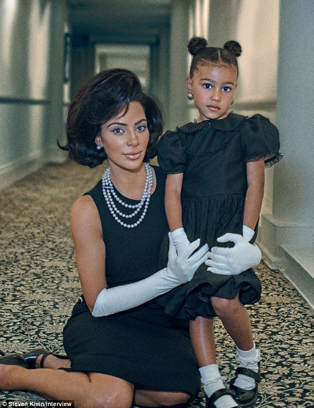 A fuss: Kardashian proudly shared her new photo shoot as Jackie Kennedy with her social media followers on Monday but the reaction wasn't kind