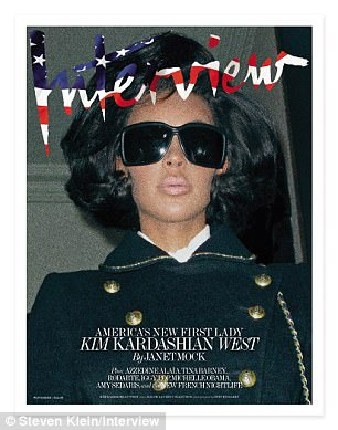 Kim looked tan on the cover