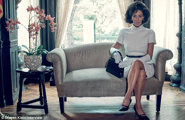 Insensitive? Kim had gushed about the photo shoot as 'powerful' and said she was thrilled to be able to pay homage to Jackie