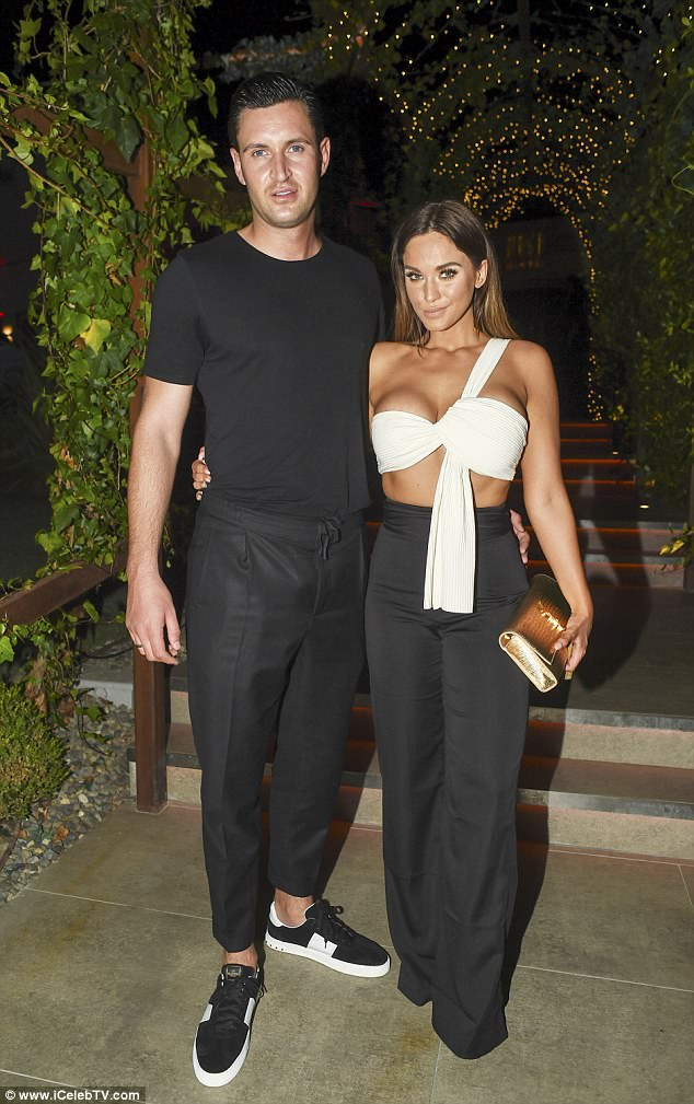 Skimpy style: Vicky's tiny top featured a bow-style cut, with an asymmetric strap keeping the garment aloft