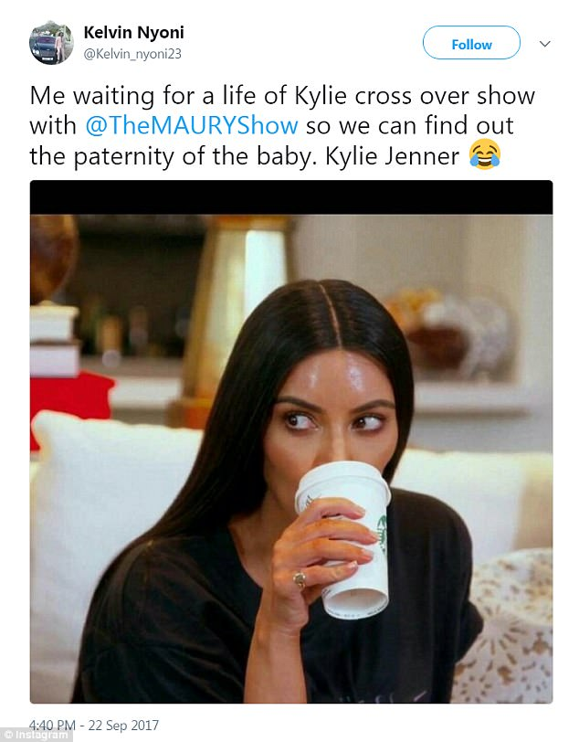 Twist in events: Another showed Kim drinking her coffee as she waited for the confirmation