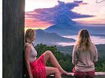 Instagram has been flooded with selfies of tourists posing in front of Bali's Mount Agung volcano