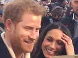 Prince Harry saw the funny side today when he was asked what it was like to be ginger and engaged to a Hollywood star like Meghan Markle