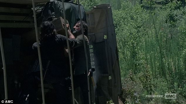 That's dynamite: Rick Grimes and Daryl Dixon unloaded dynamite from the truck