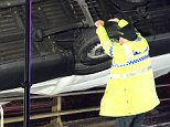 PC Martin Willis - known as Motorway Martin - managed to cling onto the vehicle for long enough so that emergency services managed to help free the trapped driver