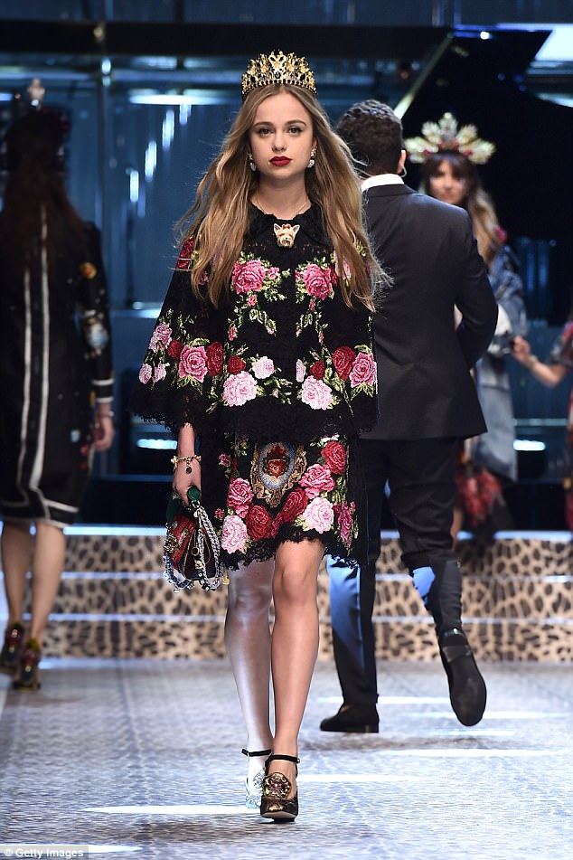 Runway royalty:The young royal, who is 36th in line to the throne, was picked to star in Dolce & Gabbana's fashion campaign and walked for them in February
