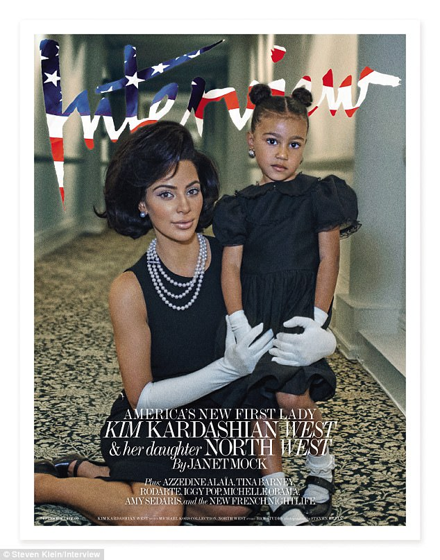 First Lady Kim?The new Interview magazine editorial, which was shot at The National Arts Club in New York City, features Kardashian West as a powerful female ambassador