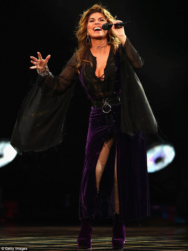 Fan favorite: The singer was performing on the 20th anniversary of the dedication of Arthur Ashe Stadium