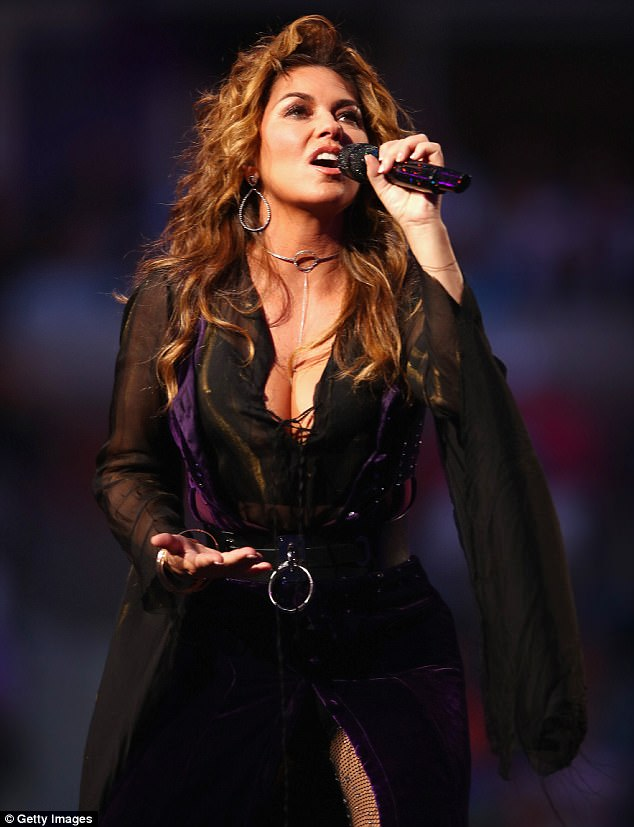 Opening ceremony: Shania Twain celebrated her 52nd birthday Monday with a performance at the opening ceremony of the US Open in New York City