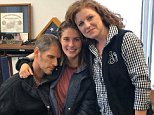 The 17-year-old girl from Florida who went missing after fleeing with her 27-year-old high school soccer coach last week was reunited with her parents on Saturday. Caitlyn Frisina was photographed with her father, Ward Frisina (left), and her mother, Scarlet Frisina (right), in Salina, New York, a suburb of Syracuse