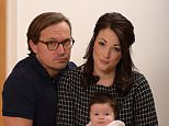 Hannah and Ben Day, pictured with their new daughter Enid. While Enid was a 'wonderful surprise' the couple will never get over the loss of Iris