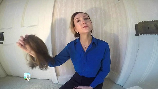 She said that hair loss made her feel 'powerless' but she chose to remove her wig on her video series an emotional scene in Victoria Derbyshire breast cancer diary part 3: Hair loss