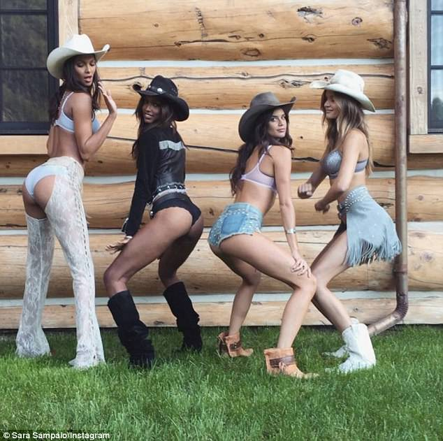 Yee-haw! Last month, Sara shot a Wild West-themed campaign in Aspen with filmmaker Michael Bay and lensman Jerome Duran for the VS holiday collection