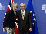 PM Theresa May arrived in Brussels today for talks with jean-Claude Juncker, who welcomed her warmly