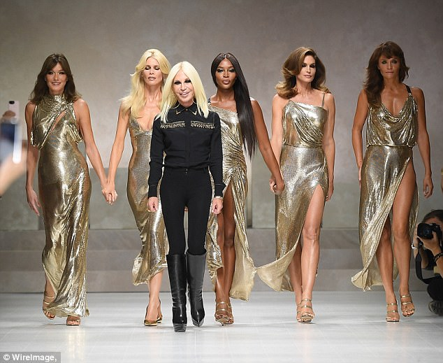 Tribute:The iconic fashion moment, soundtracked by George Michael's Freedom, was a poignant tribute to mark the 20th anniversary of Gianni Versace's brother