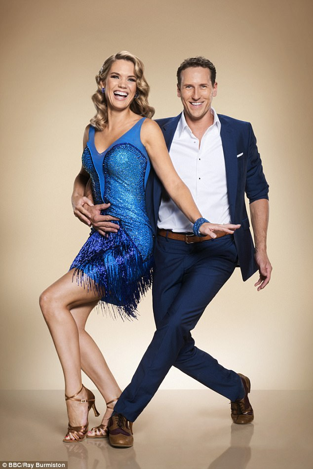 Challenge:Speaking to Hello! Magazine , the Good Morning Britain host admitted that while many other celebrities have fallen victim to the 'curse of Strictly', she is more than loved-up with her other half Mark to look at her professional dance partner Brendan Cole