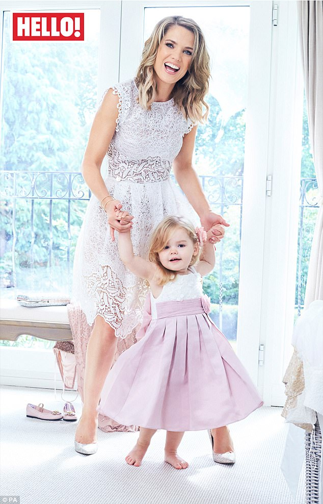 Happy: Charlotte Hawkins, 42, has laughed off concerns about the so-called Strictly 'curse' because she and her husband Mark Herbert are happily married