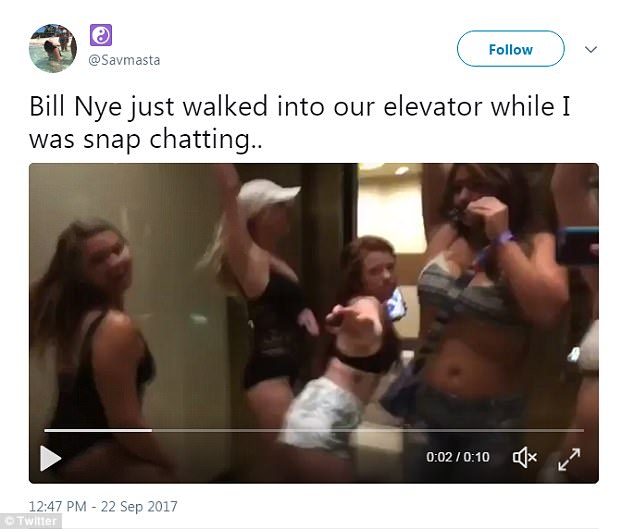 Uploaded: Twitter user @Savmasta uploaded the hilarious video of the fivesome shaking their booties in the mirror-filled lift