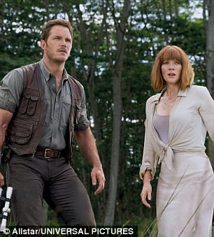 His big movie career: The actor has been off making Jurassic World (left) and Passengers (right) for the past few years