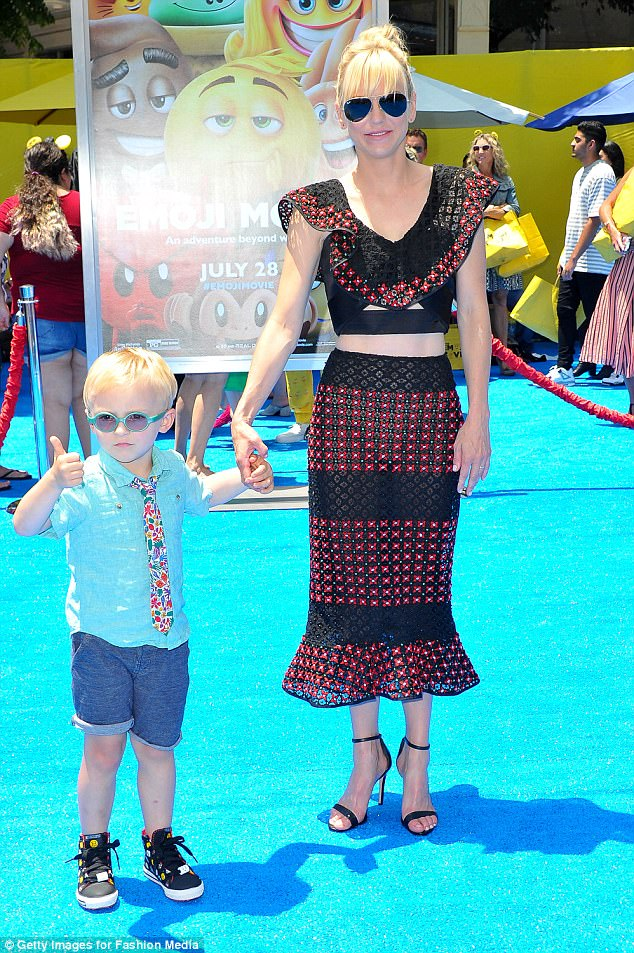 Time with mommy is a thumb's up: The blonde beauty with Jack in July in Hollywood. Her son was born two-and-a-half months early and spent a month in the NICU before he went home