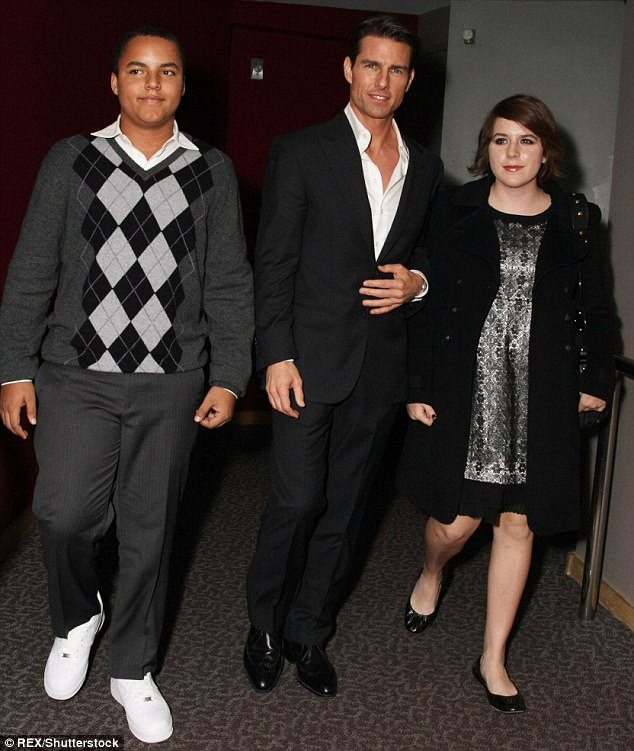 After Tom and Nicole split, Miss Cruise and adopted brother Connor (left) both children went to live with him and followed him into the Church of Scientology